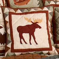 """Mountain Whispers Moose Toss Pillow 16""""W x 16""""L"""