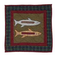 """Northwood Star fish Toss Pillow 16""""W x 16""""L"""