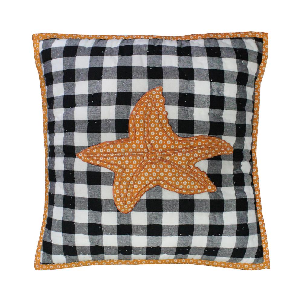 """Orca starfish Toss Pillow 16""""W x 16""""L"""