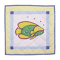 "Summer Fun fish Toss Pillow 16""W x 16""L"