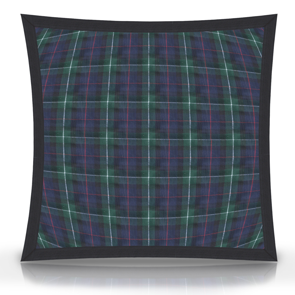 "Tartan Plaid,fabric Toss Pillow 16""W x 16""L, flanged"