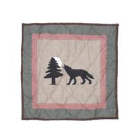 """Wolf Trail Wolf Toss Pillow 16""""W x 16""""L"""