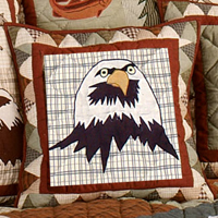 "Mountain Whispers eagle Toss Pillow 16""W x 16""L"
