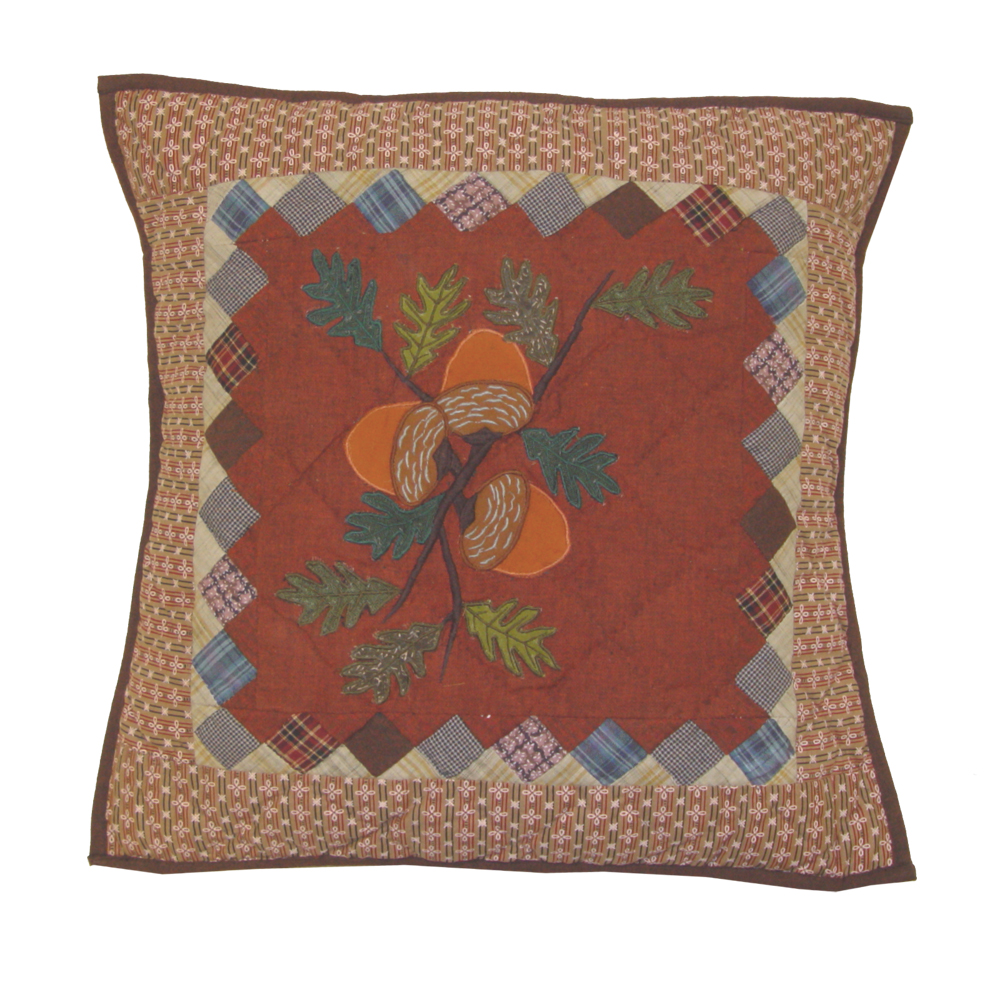 "Acres of Acorns Toss Pillow 16""W x 16""L"