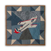 "Airplane Sortie Toss Pillow 16""W x 16""L"