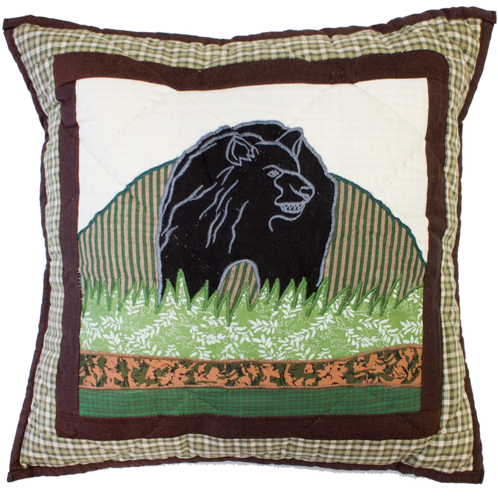 "Bear Country Toss Pillow 16""W x 16""L"