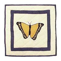 "Butterfly Kisses crab Toss Pillow 16""W x 16""L"