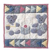 """Blue Teddy Bear Toss Pillow 16""""W x 16""""L"""