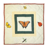 "Bug Garden Toss Pillow 16""W x 16""L"