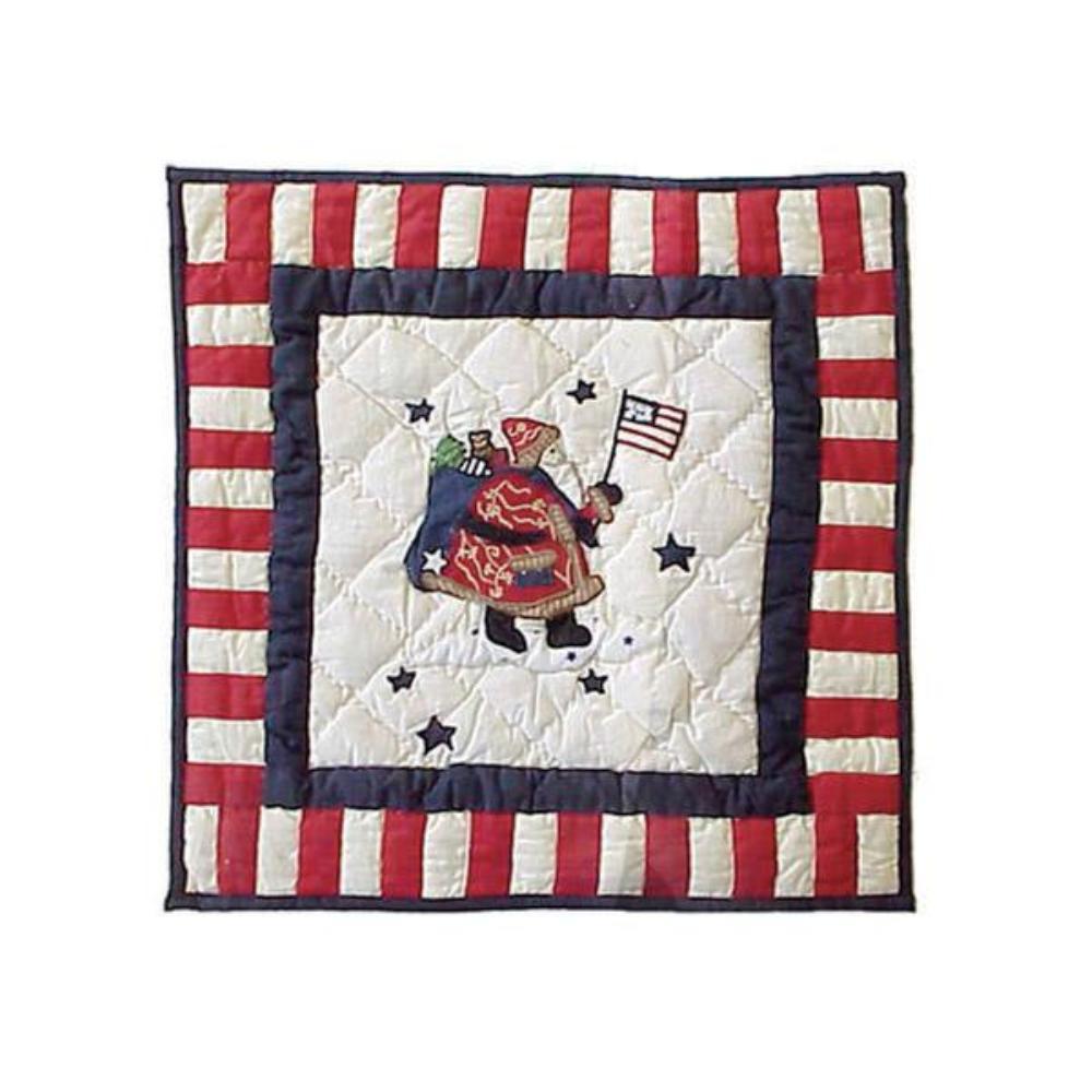 "Colonial Santa Toss Pillow 16""W x 16""L"