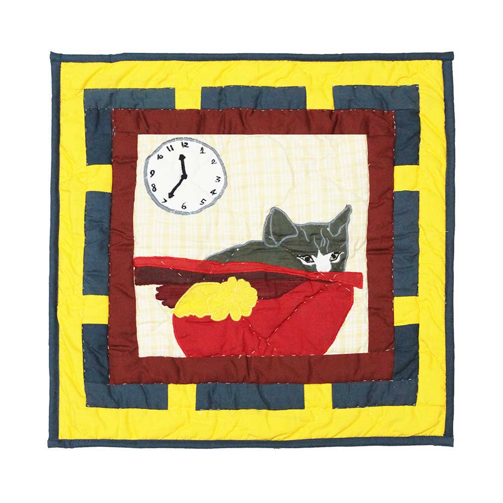 "Cats Tale Toss Pillow 16""W x 16""L"