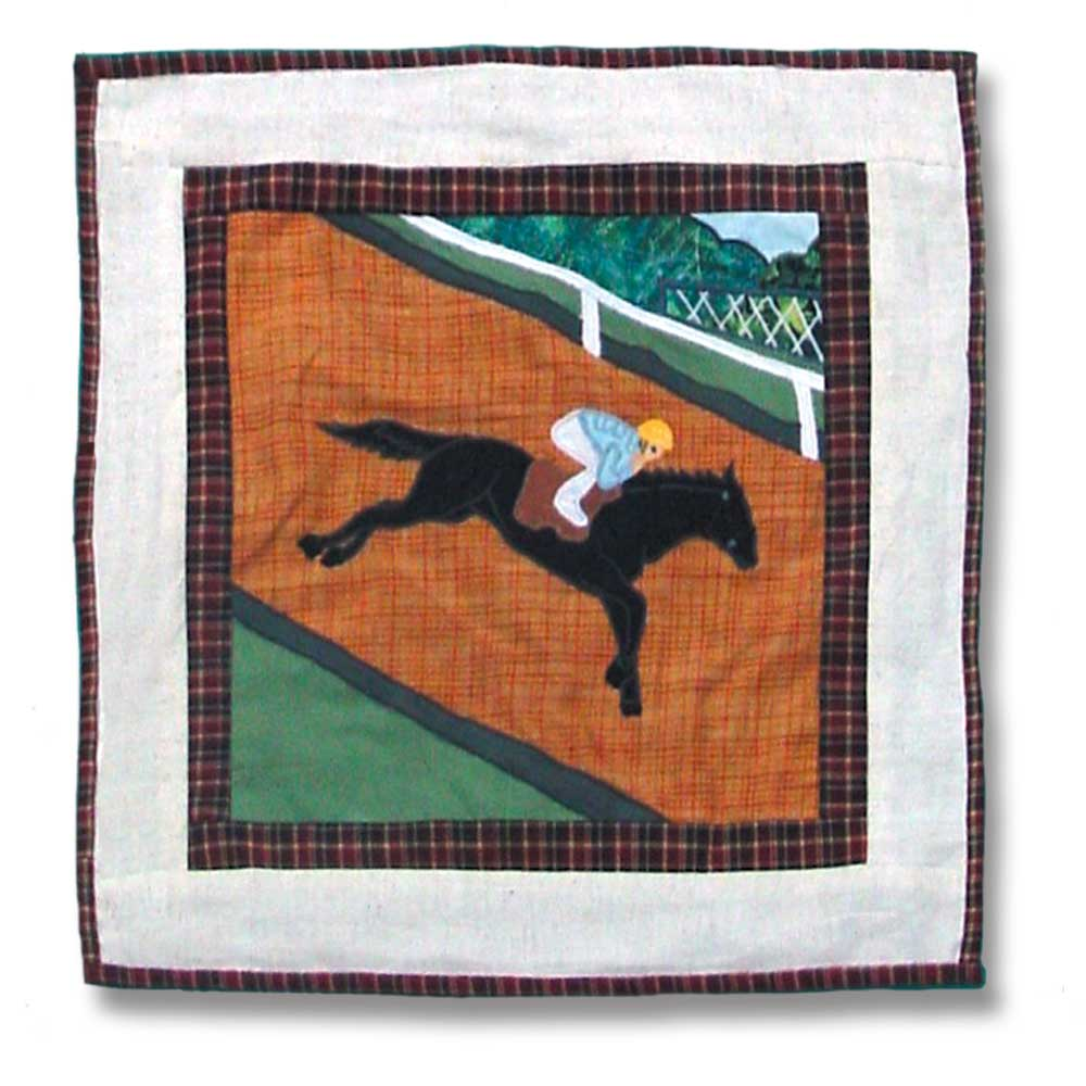 "Derby Toss Pillow 16""W x 16""L"