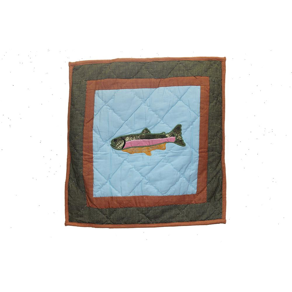 "Fish Trail Toss Pillow 16""W x 16""L"