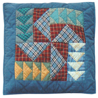 """Fall Windmills Toss Pillow 16""""W x 16""""L"""