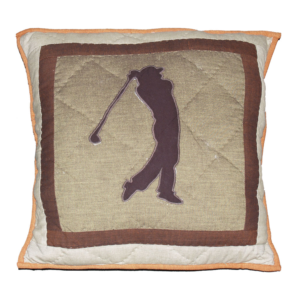 "Golf Trail Toss Pillow 16""W x 16""L"
