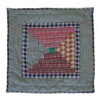 """Harvest Log Cabin Toss Pillow 16""""W x 16""""L"""