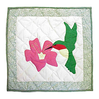 "Hummingbird Toss Pillow 16""W x 16""L"