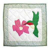 "Hummingbird Toss Pillow 16""W x 16""L"