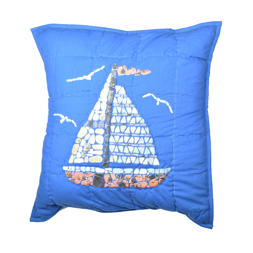 """Blue Sail Toss Pillow 16""""W x 16""""L"""