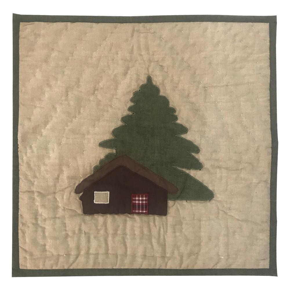 """Moose Cabin Toss Pillow 16""""W x 16""""L"""