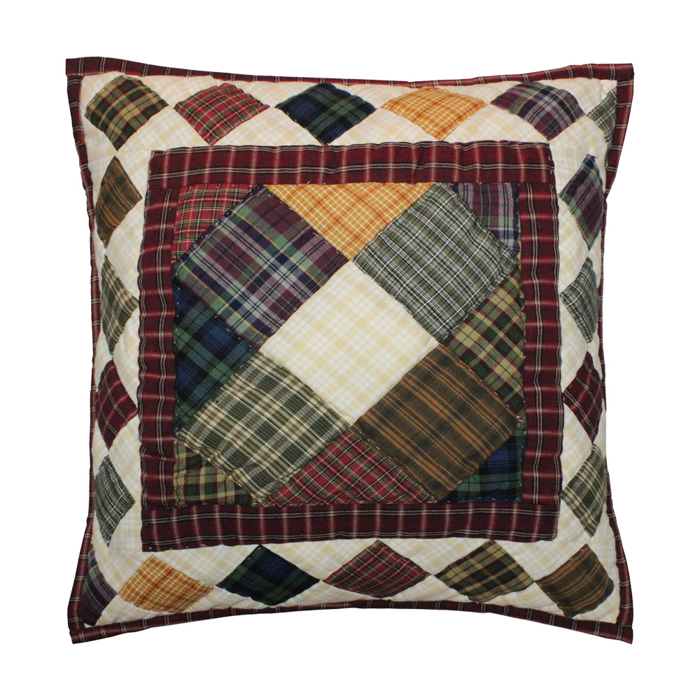 "Rustic Cabin Toss Pillow 16""W x 16""L"