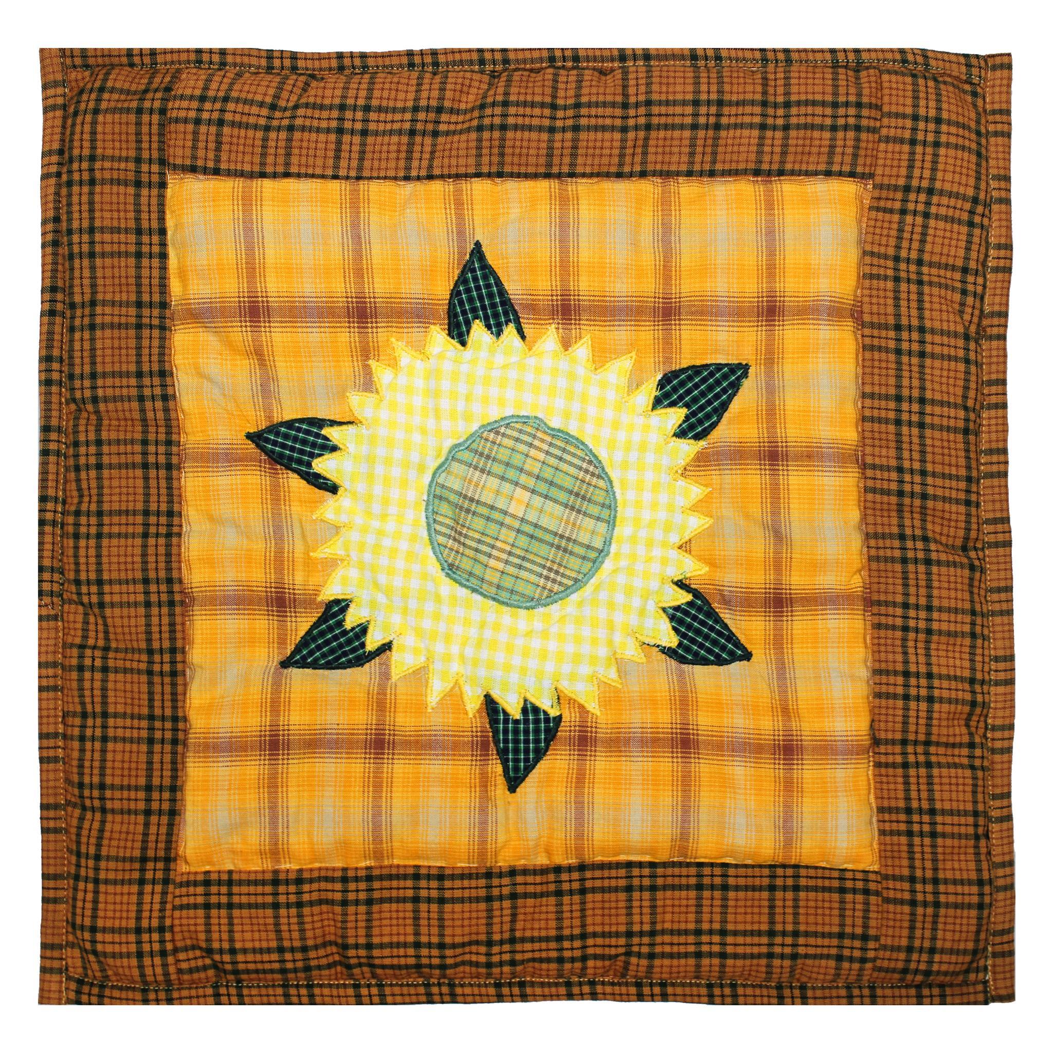 """Sunflower  Toss Pillow 16""""W x 16""""L"""