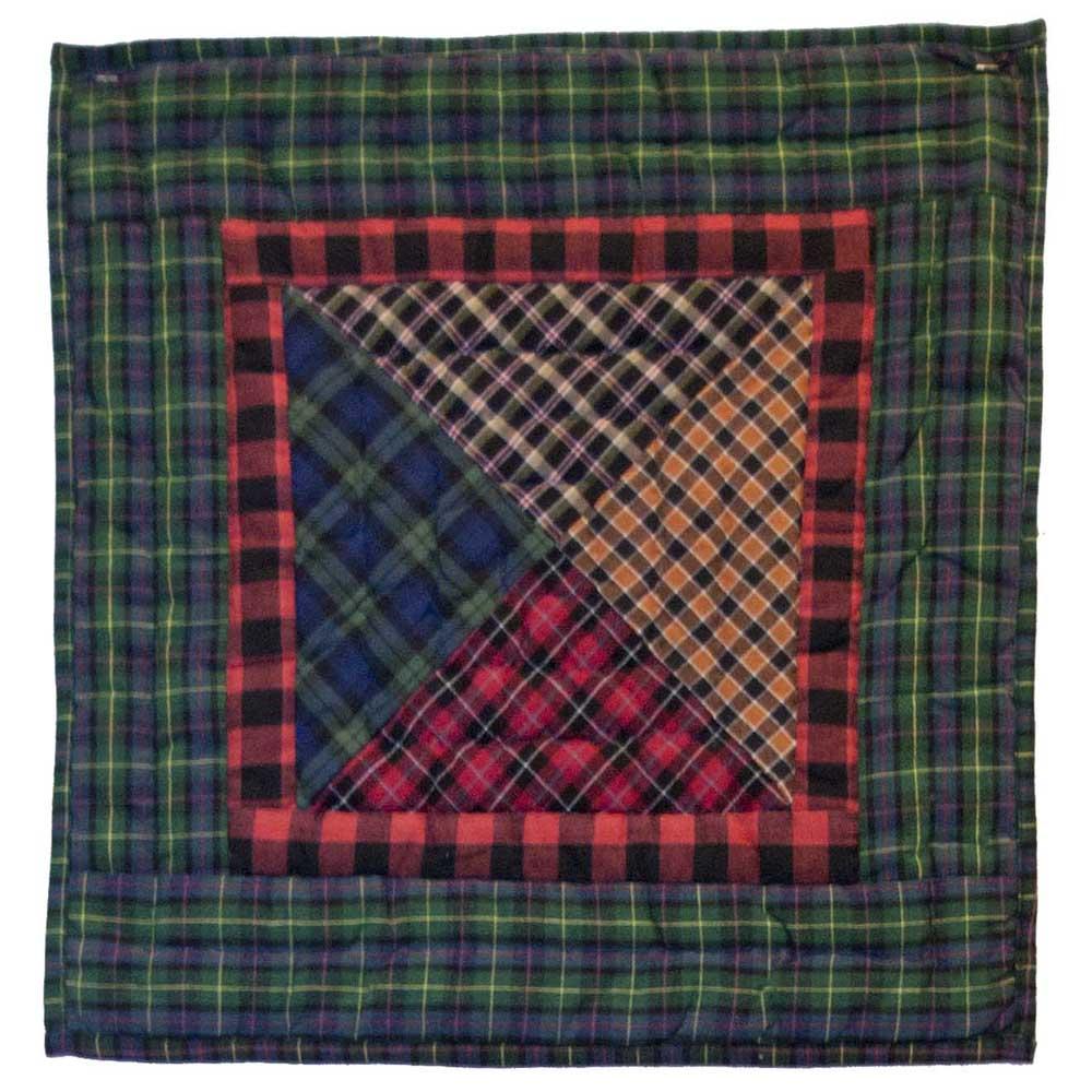 """Tartan square Toss Pillow 16""""W x 16""""L"""