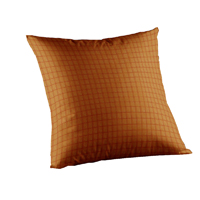 "Golden Rod Plaid Toss Pillow 16""W x 16""L"