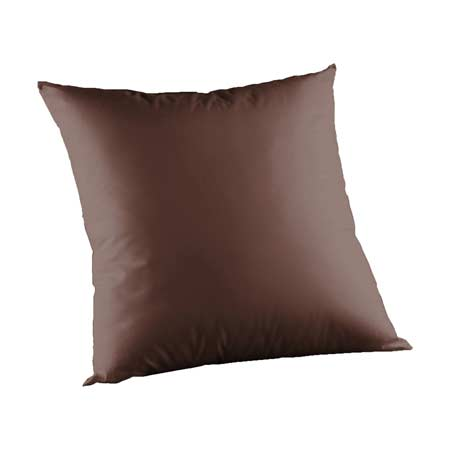 "Chocolate Brown Chambray Toss Pillow 16""W x 16""L"