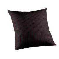 """Black and Maroon Stripe Toss Pillow 16""""W x 16""""L"""