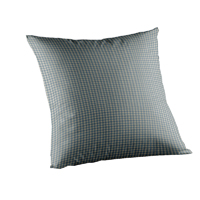 "Light Blue Pin Check Toss Pillow 16""W x 16""L"
