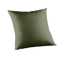 "Hunter Green and Tan Check Toss Pillow 16""W x 16""L"