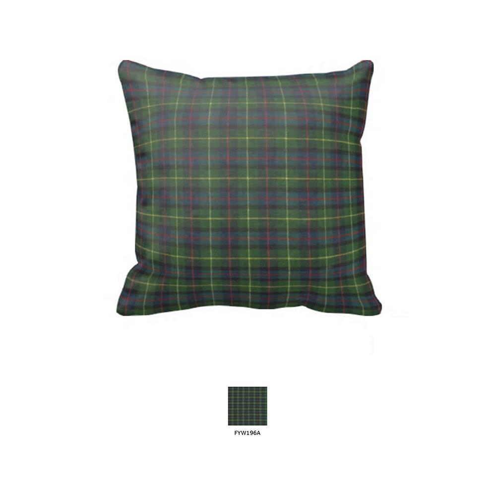 """Green Tartan Plaid Toss Pillow 16""""W x 16""""L"""