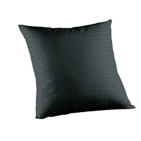 "Green and Blue Gingam Toss Pillow 16""W x 16""L"