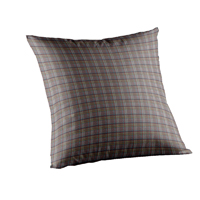"""Red Lines and Off White Plaid Toss Pillow 16""""W x 16""""L"""