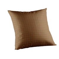 "Pale Brown Window Pane Check Toss Pillow 16""W x 16""L"