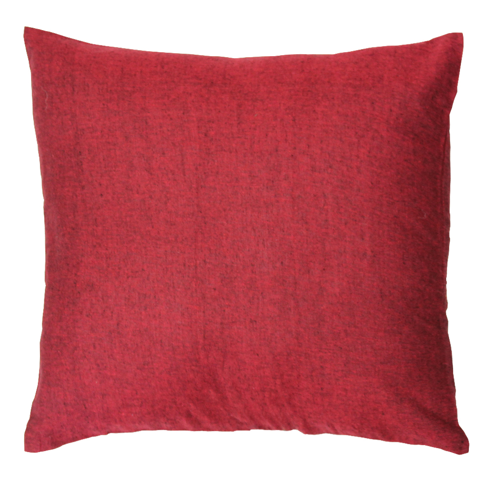 "Maroon Chambray Toss Pillow 16""W x 16""L"