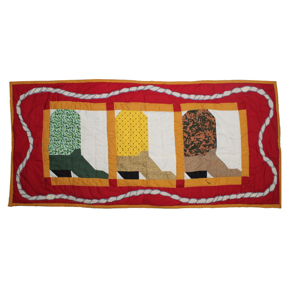 "Boots Table Runner Extra Short 36""W x 16""L"