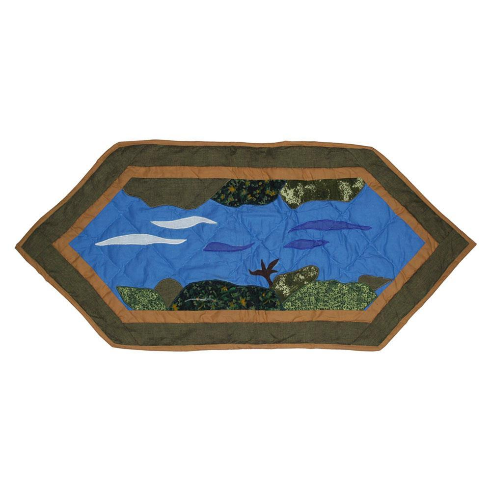 """Fly Fishing Table Runner Extra Short 36""""W x 16""""L"""