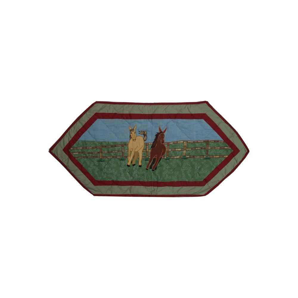 """Horse Table Runner Extra Short 36""""W x 16""""L"""
