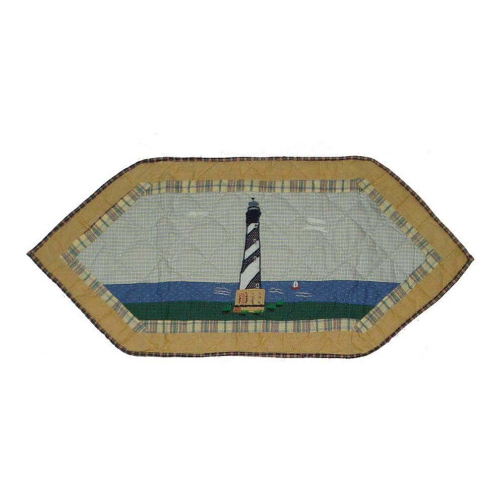"""Lighthouse by the Bay Table Runner Extra Short 36""""W x 16""""L"""