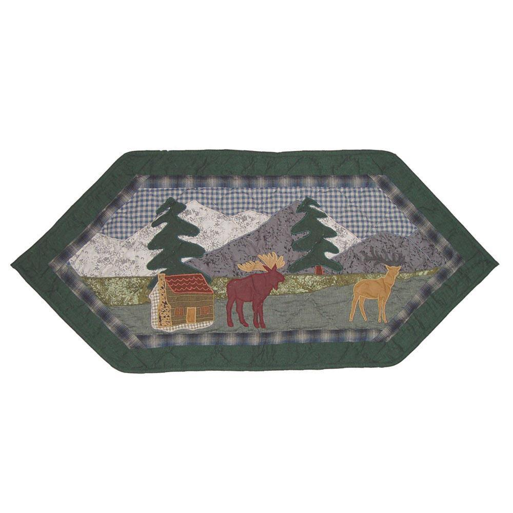 "Northwoods Walk Table Runner Extra Short 36""W x 16""L"