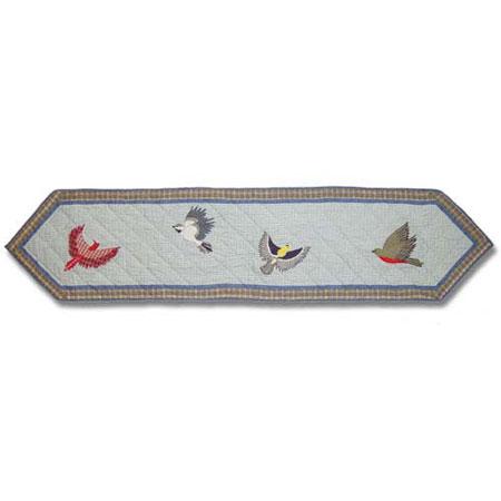 "Songbirds Table Runner Long 72""W x 16""L"