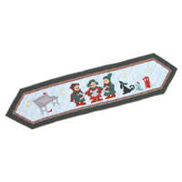 "Carolers Table Runner Long 72""W x 16""L"