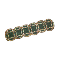 "Green Double Wedding Ring Table Runner Long 72""W x 16""L"