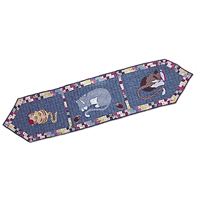 """Kitty Cats Table Runner Long 72""""W x 16""""L"""