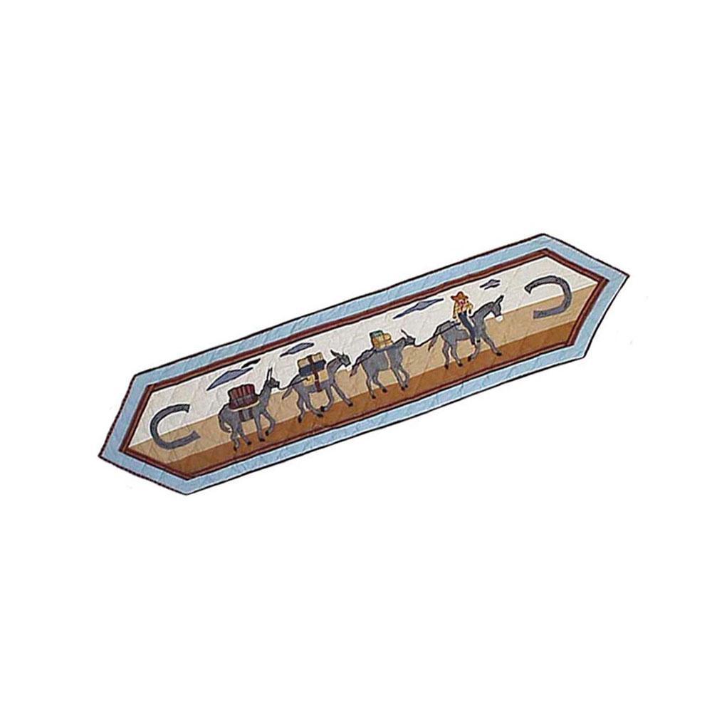 """Mule Trail Table Runner Long 72""""W x 16""""L"""