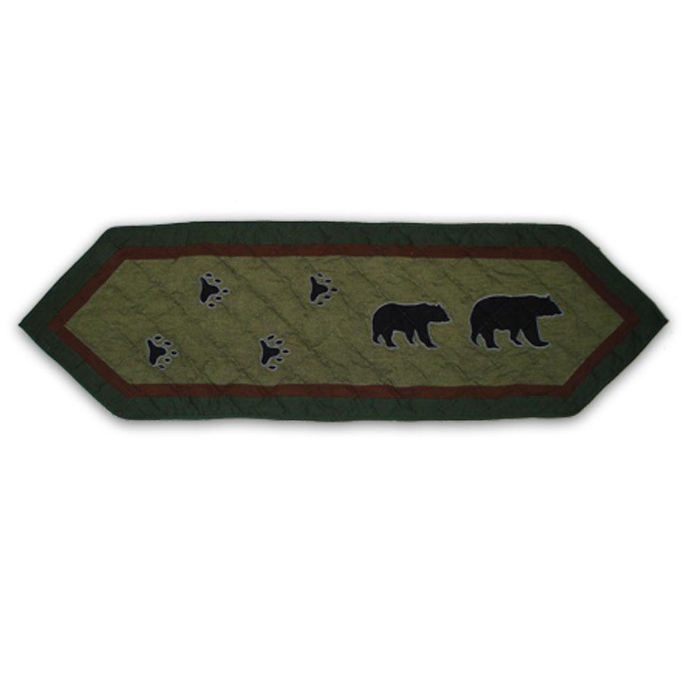 "Bear Trail Table Runner Short 54""W x 16""L"