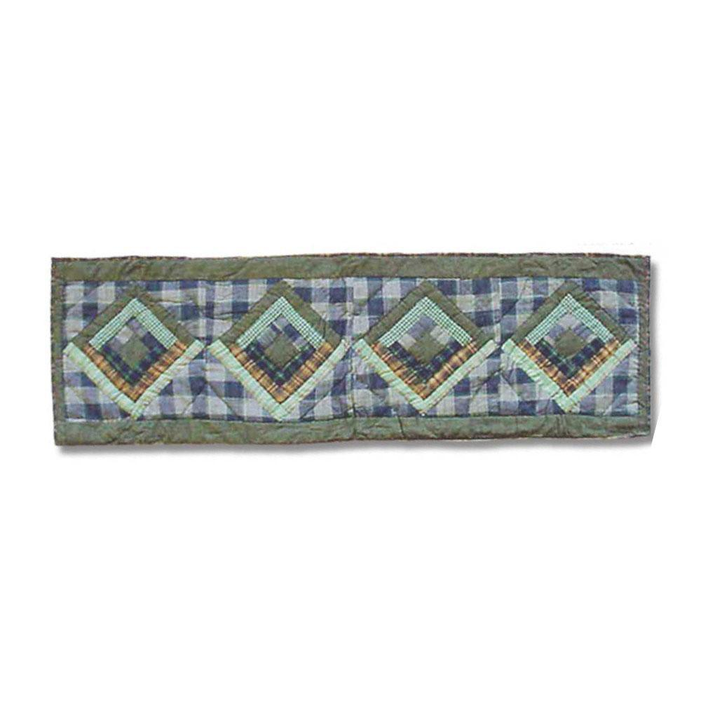 "Green Log Cabin Table Runner Short 54""W x 16""L"