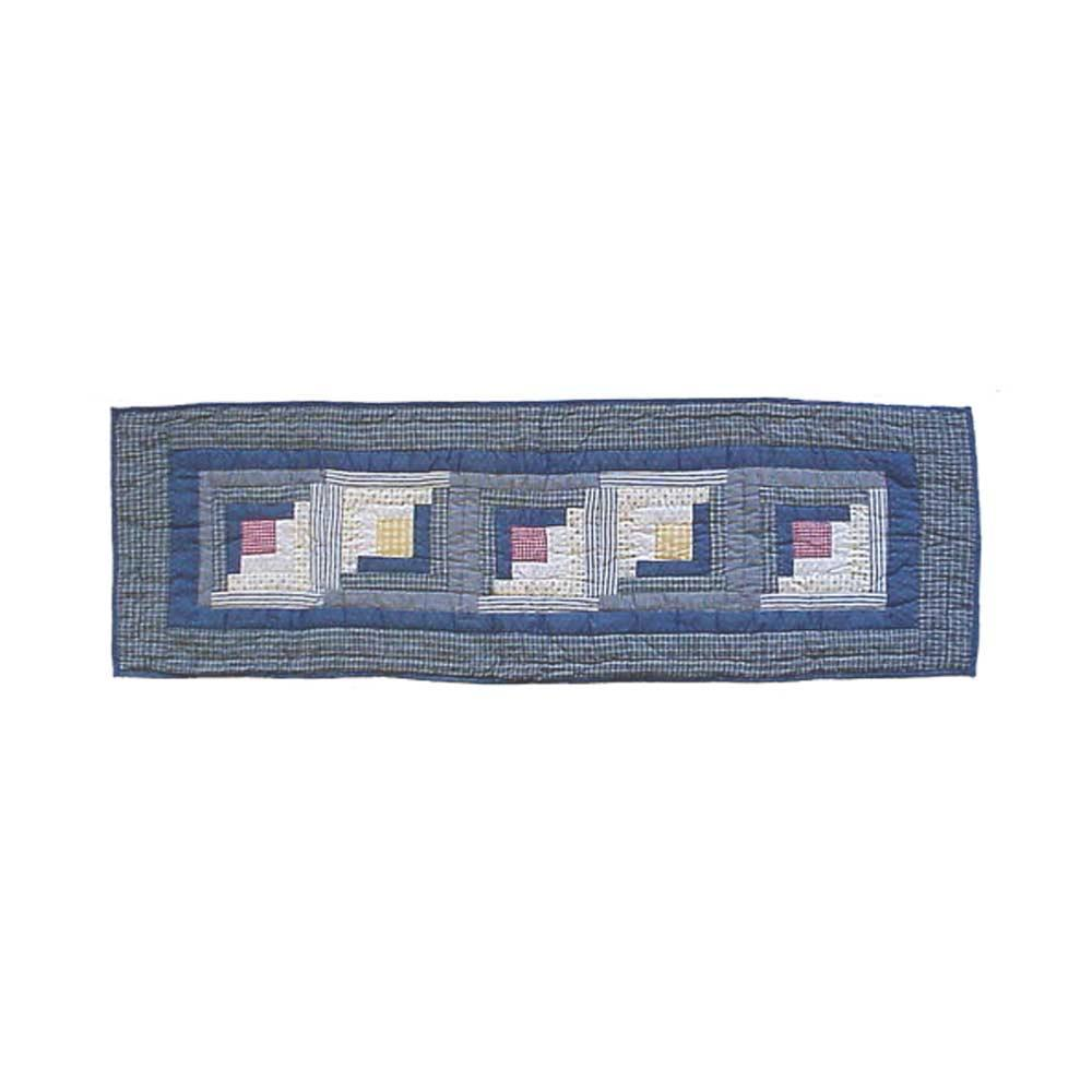 "Sail Log Cabin Table Runner Short 54""W x 16""L"